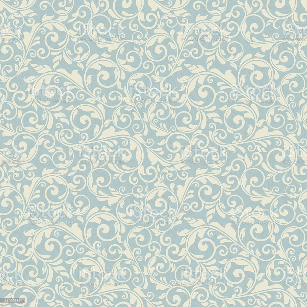 seamless victorian pattern vector art illustration