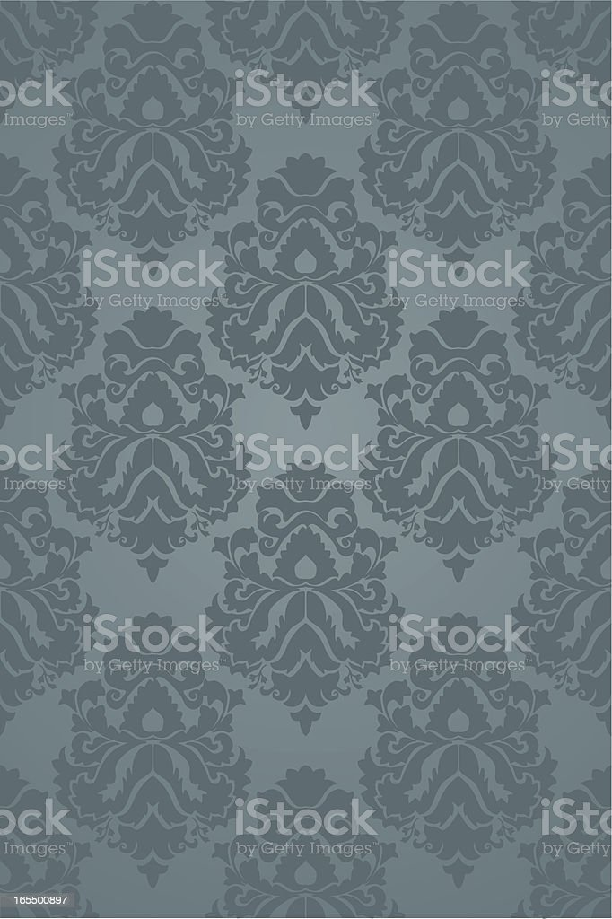 Seamless Victorian Wallpaper Vector royalty-free stock vector art