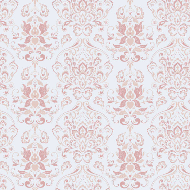 シームレスなヴィンテージの背景。ベクトルの背景 - ロココ調点のイラスト素材/クリップアート素材/マンガ素材/アイコン素材