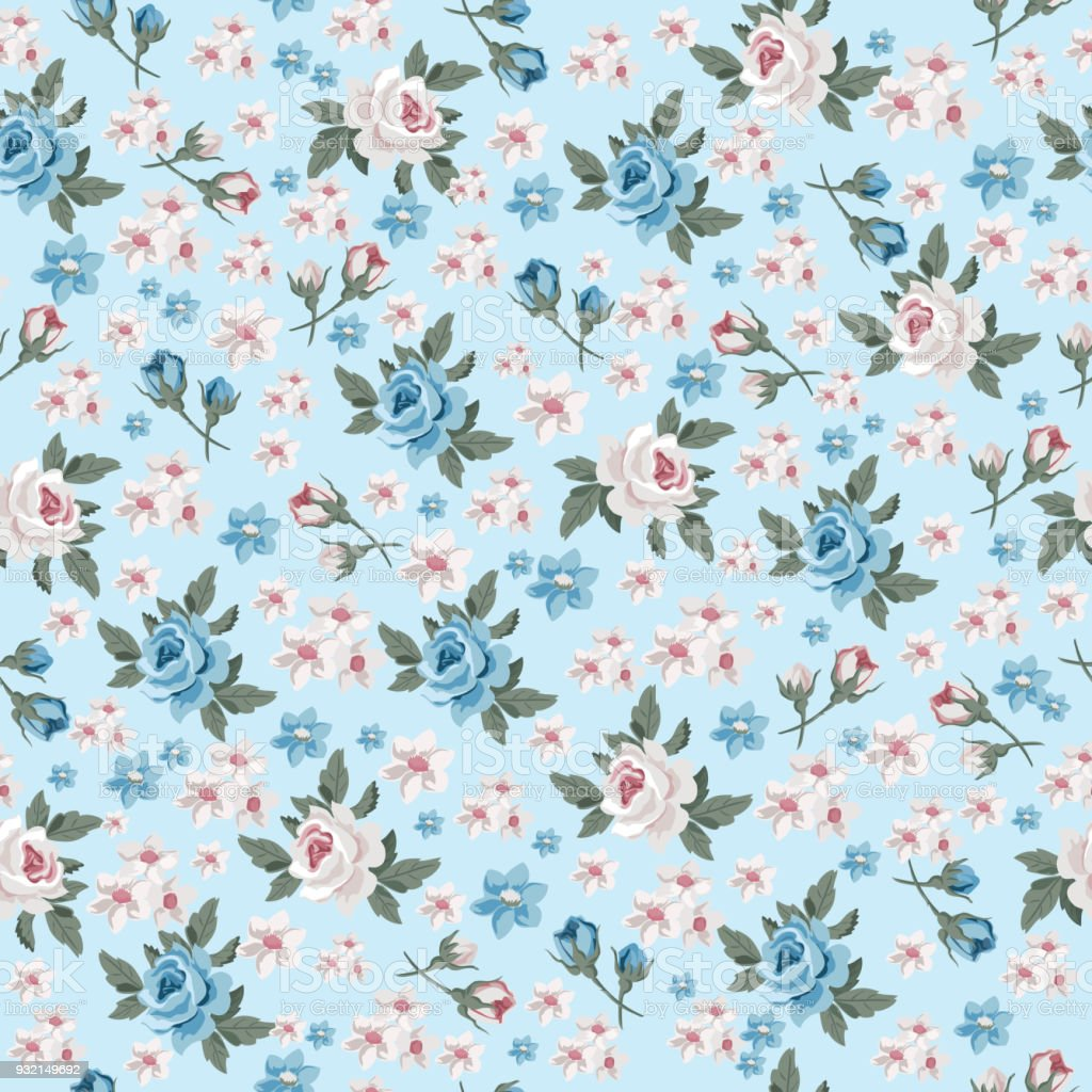 Seamless vintage floral pattern for gift wrap and fabric design seamless vintage floral pattern for gift wrap and fabric design royalty free seamless vintage floral mightylinksfo