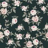 Seamless Vintage Flower Pattern