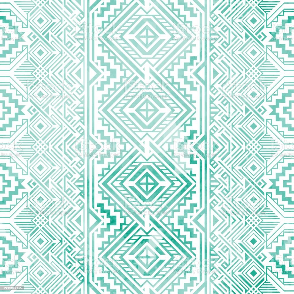 Seamless vintage geometric background. vector art illustration