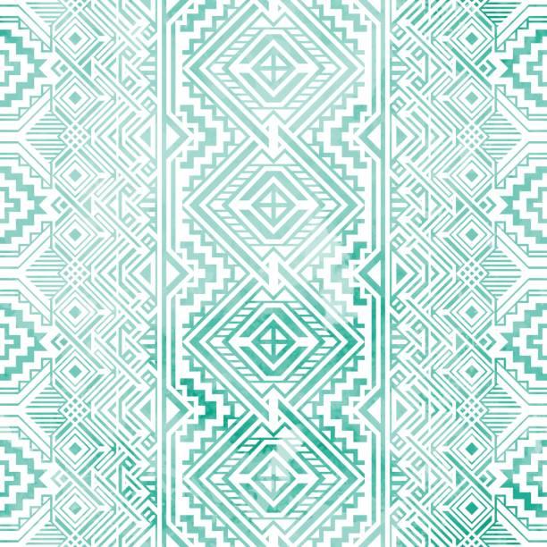 seamless vintage geometric background. - tribal pattern stock illustrations, clip art, cartoons, & icons