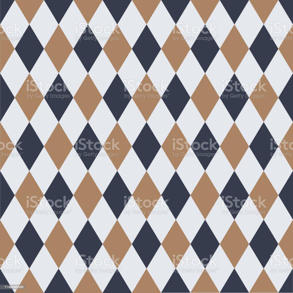 シームレスなヴィンテージハーレクインパターンの背景壁紙