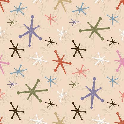 Seamless Vintage Jacks Pattern Background