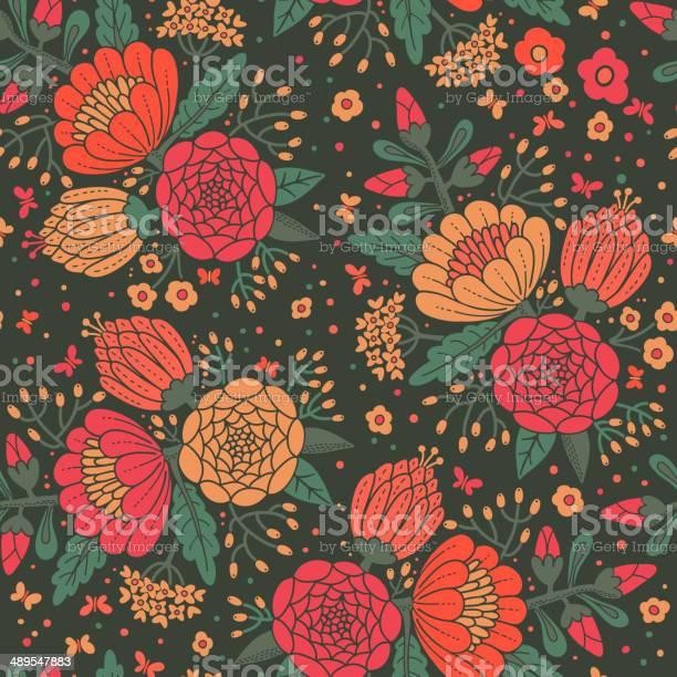 Seamless vintage pattern with decorative flowers vector id489547883?b=1&k=6&m=489547883&s=612x612&h=yahef9ealfdnf6ynnibpno5kgdcvjo6kkfjlovk144a=
