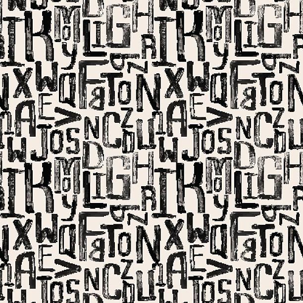 Nahtlose vintage Muster, seitlich grunge-Buchstaben von beliebiger Größe. – Vektorgrafik