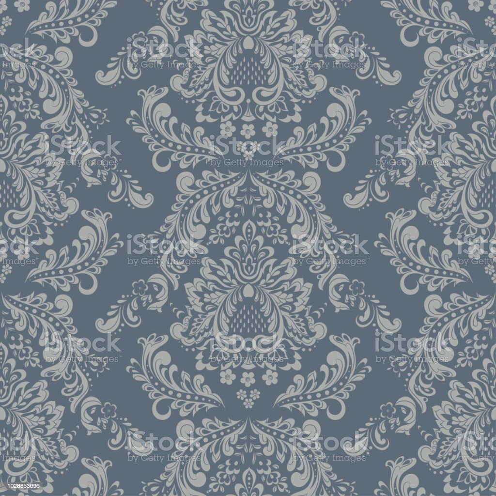 Seamless Vintage Vector Background Floral Wallpaper Baroque Style Pattern Royalty Free