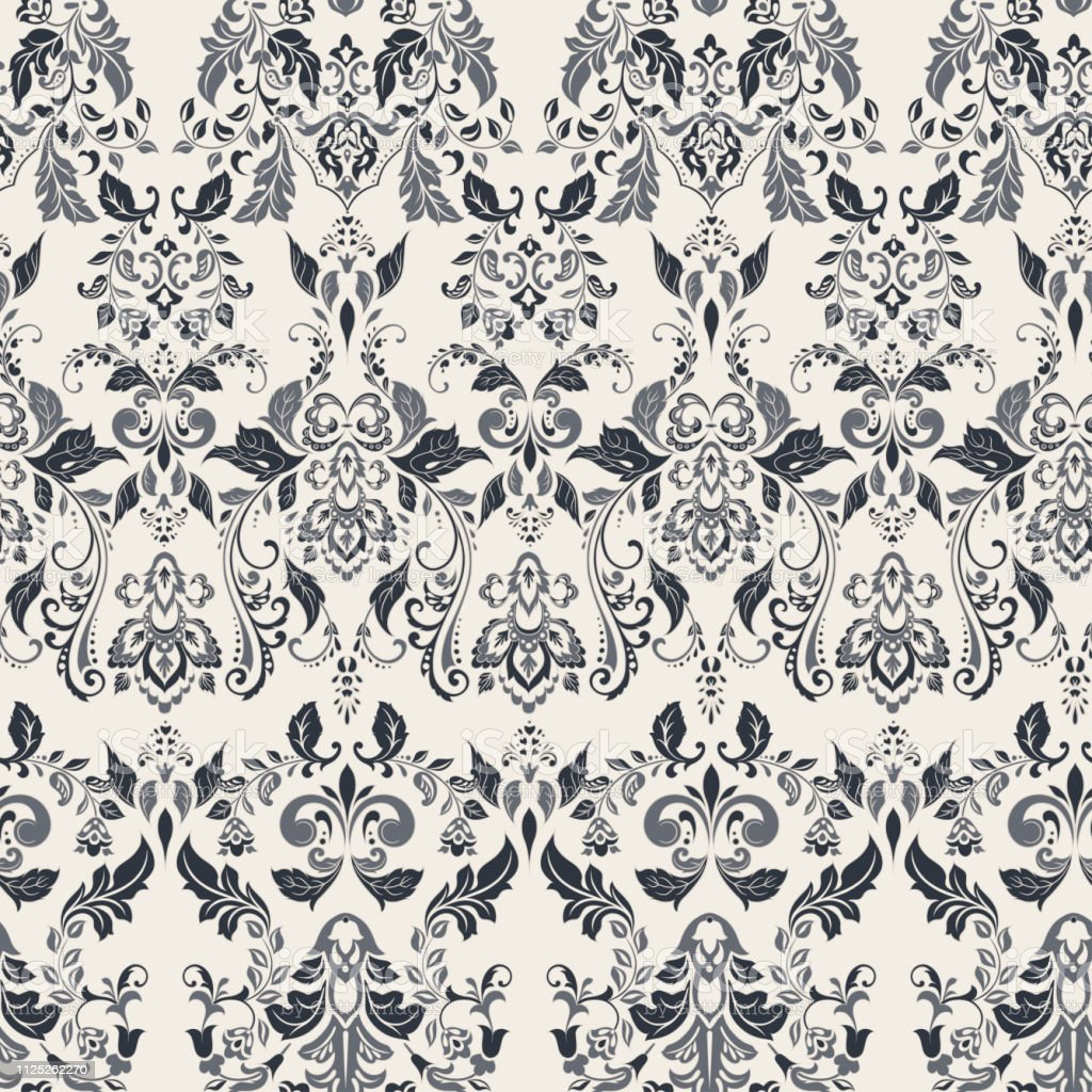 Seamless Vintage Vector Background Vector Floral Wallpaper Baroque