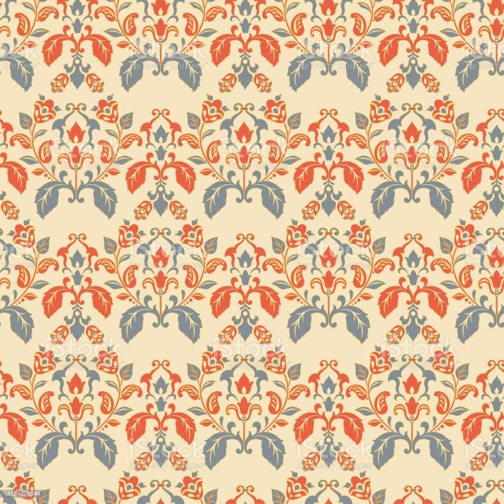 Seamless Vintage Wallpaper Floral Vector Background Stock Illustration Download Image Now