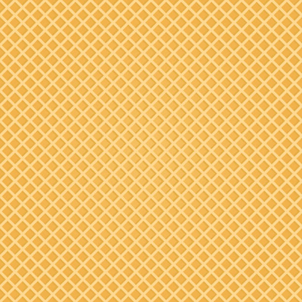 Seamless Wafer Background. Appetizing repeat wafer texture. Vector Illustration. vector art illustration