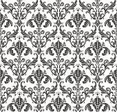 Seamless wallpaper baroque. Black and white background vintage
