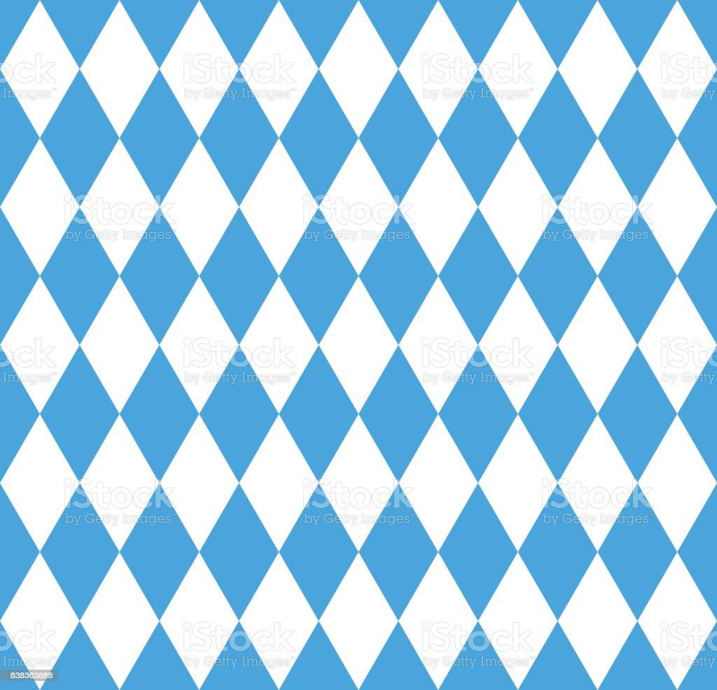 Nahtlose Tapete. Bayerische Oktoberfest Fahne – Vektorgrafik