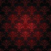 Seamless wallpaper in dark red