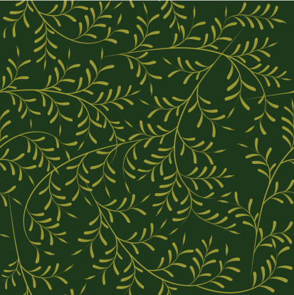 Seamless Wallpaper Pattern, Olive Tree Branches