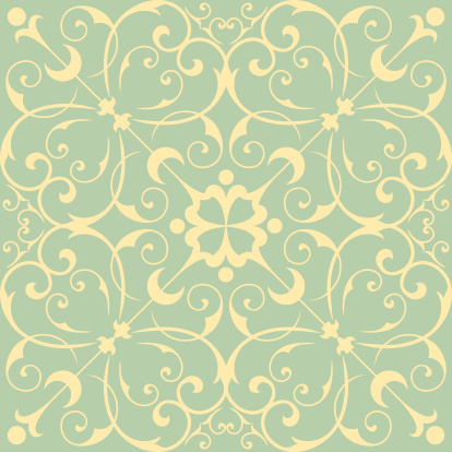 Seamless Wallpaper Pattern Stock Illustration - Download Image Now