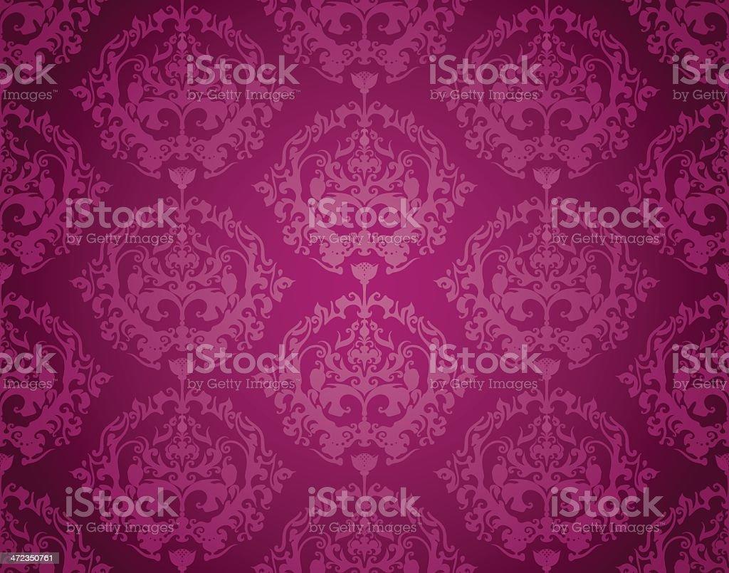 Seamless Wallpaper Pattern (Purple) royalty-free stock vector art
