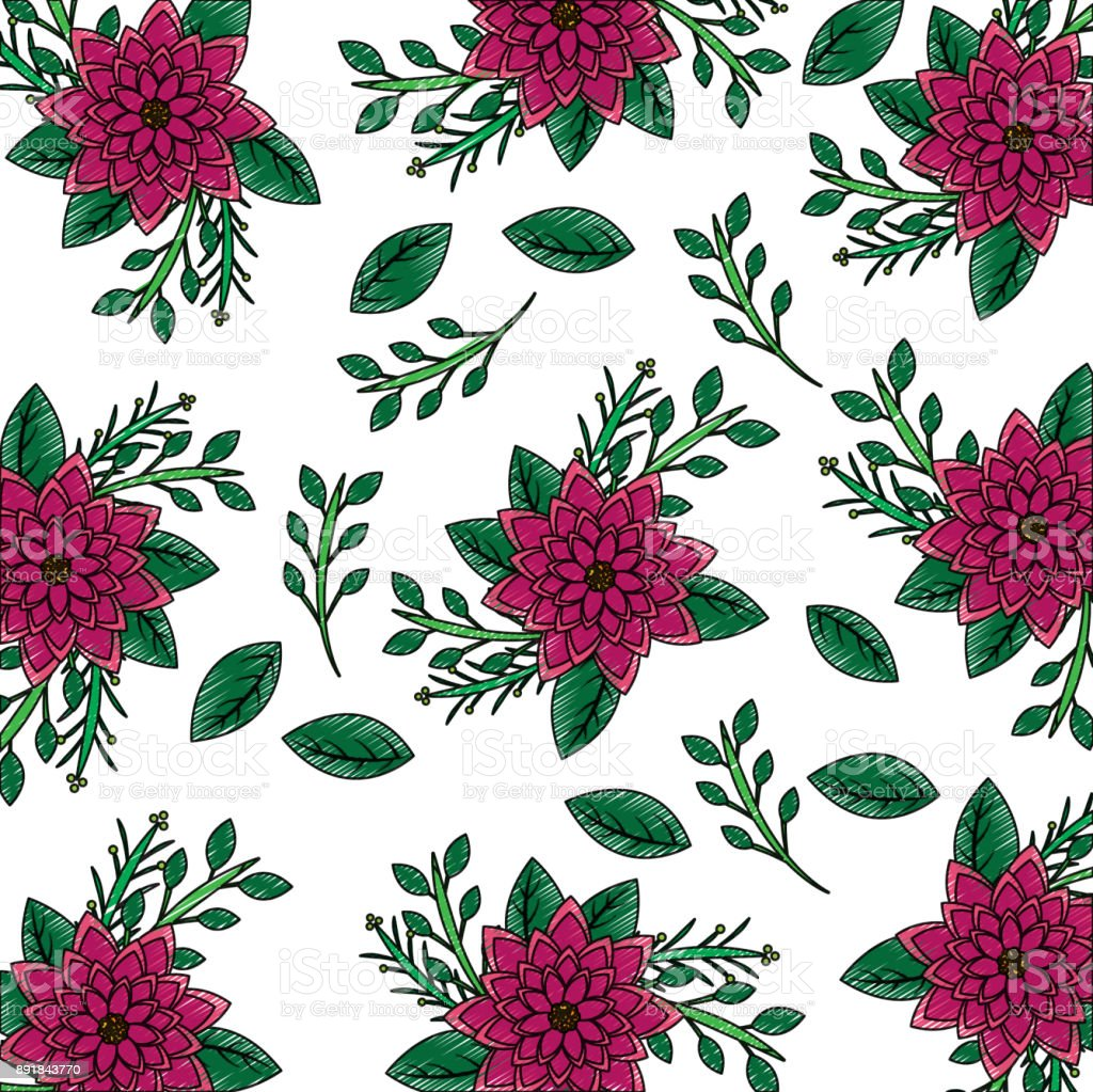Seamless wallpaper pattern with of collection dahlia flower leaves seamless wallpaper pattern with of collection dahlia flower leaves royalty free seamless wallpaper pattern with izmirmasajfo