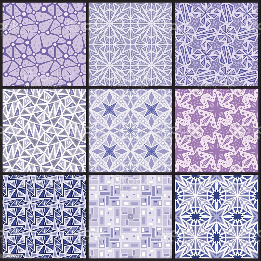 Seamless Wallpaper Patterns royalty-free stock vector art