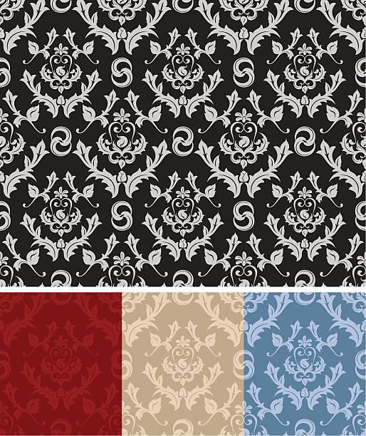 nahtlose wallpaper - plüschmuster stock-grafiken, -clipart, -cartoons und -symbole
