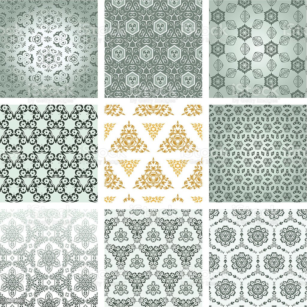 Seamless Wallpaper royalty-free seamless wallpaper stock vector art & more images of backgrounds