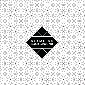 seamless fashion abstract monochrome black and white wallpaper or background with hipster label or badge for flayer poster logo or t-shirt apparel clothing print