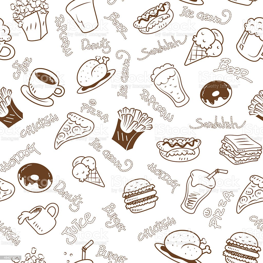 seamless wallpaper with fast food royalty-free seamless wallpaper with fast food stock vector art & more images of alcohol