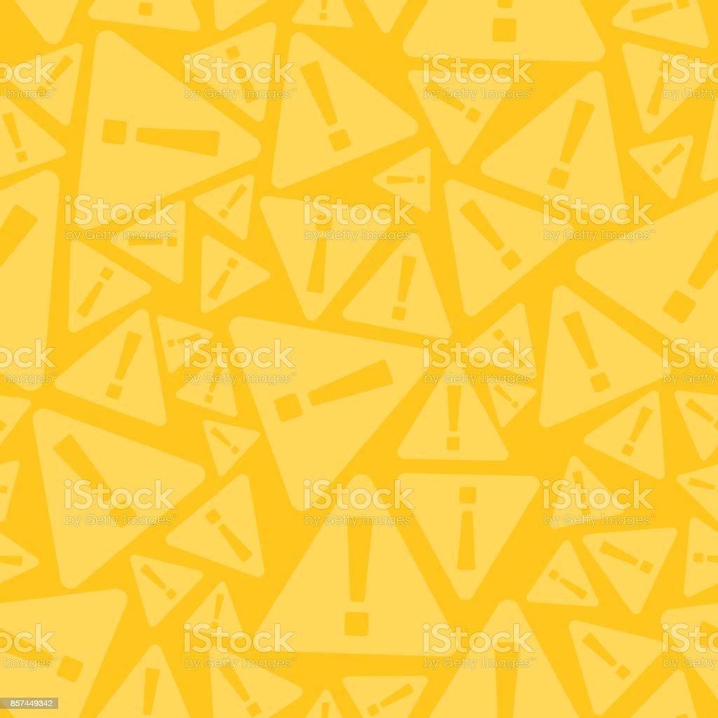 Nahtloser Warnung Zeichen Hintergrund – Vektorgrafik