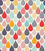 seamless water drops dots pattern