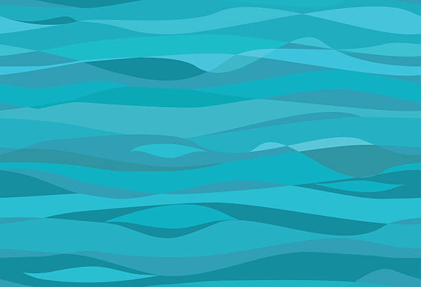Seamless water pattern Seamless water pattern with different blue colors waves tide stock illustrations