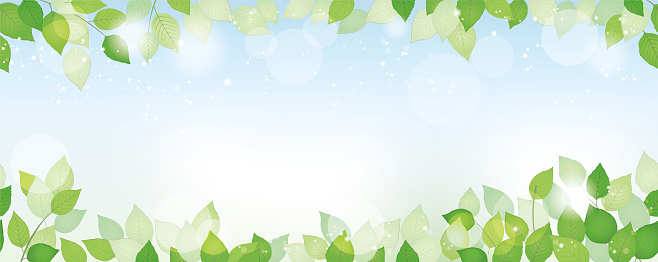 Seamless watercolor fresh green background with text space, vector illustration. Horizontally repeatable.