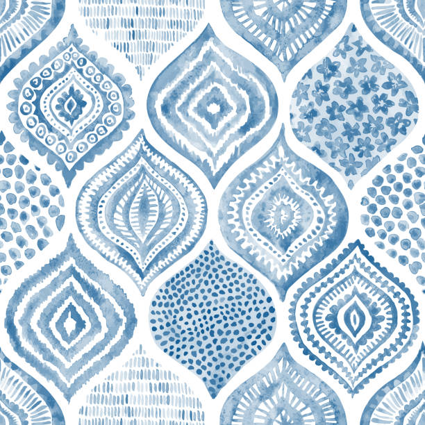 seamless watercolor pattern. - rock formations stock illustrations