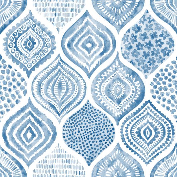 seamless watercolor pattern. - wyrób ceramiczny stock illustrations