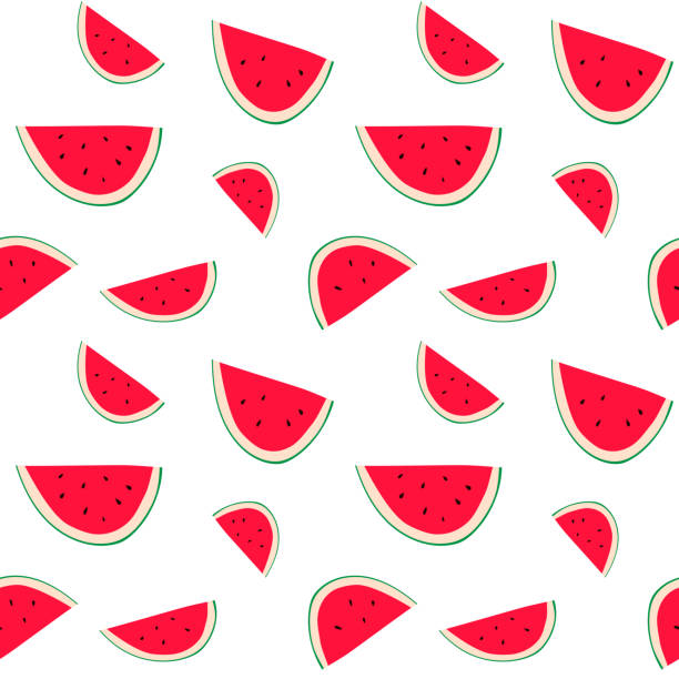 Seamless watermelon pattern illustration vector art illustration