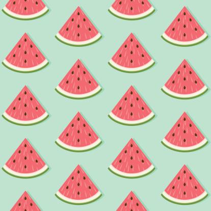 Nahtlose Muster Mit Wassermelone Slice Stock Vektor Art und mehr Bilder von Bildhintergrund