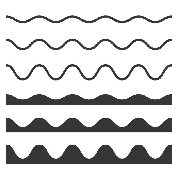 Seamless Wave and Zigzag Pattern Set on White Background. Vector Seamless Wave and Zigzag Pattern Set on White Background. Vector illustration squiggle stock illustrations