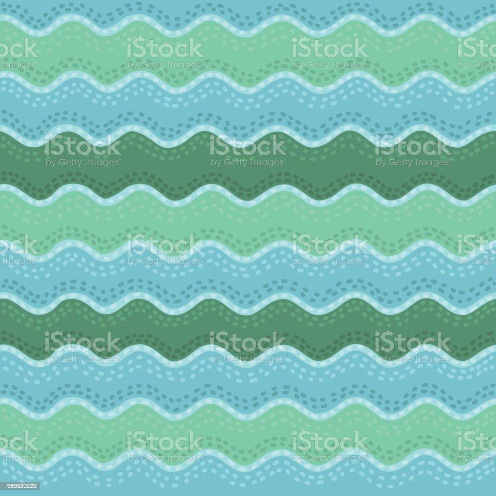 Nahtlose Handgezeichneten Wellenmuster Wellen Hintergrund Einsetzbar ...