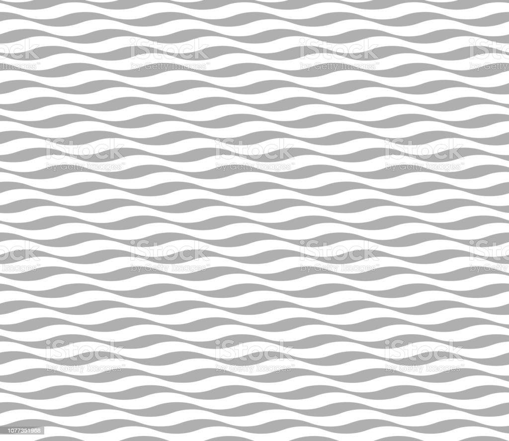 Papier Peint Noir Et Blanc Graphique modèle de vague sans soudure ondulé moderne abstrait noir et