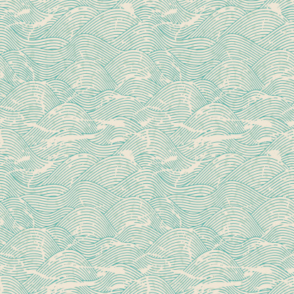 Seamless wave pattern in blue and white colors
