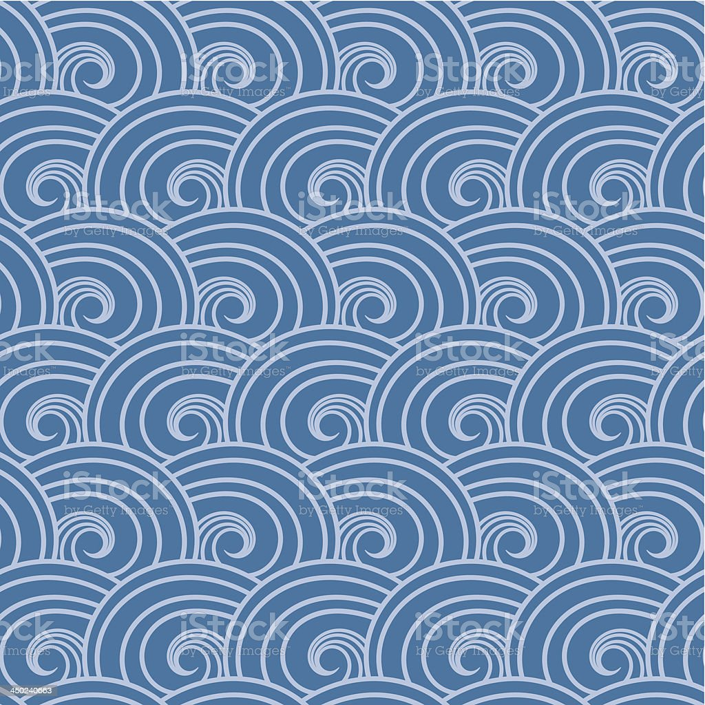 Seamless wave pattern. royalty-free stock vector art