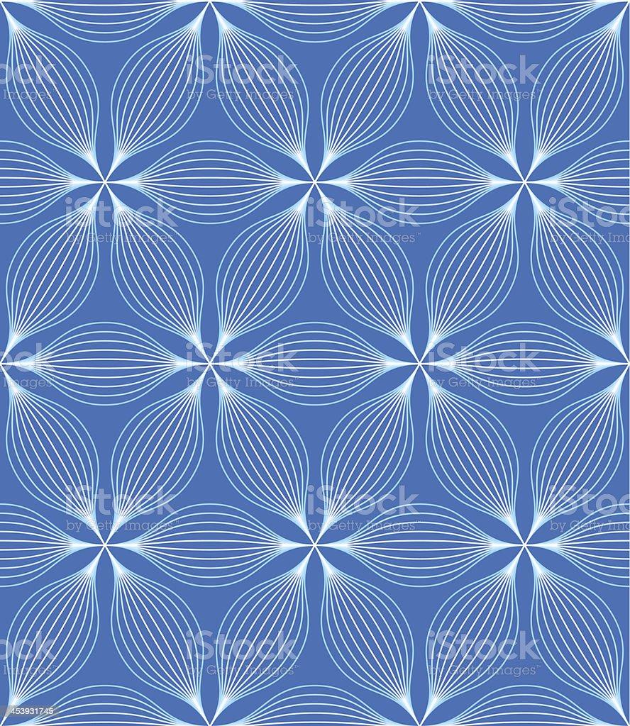seamless wave pattern vector art illustration