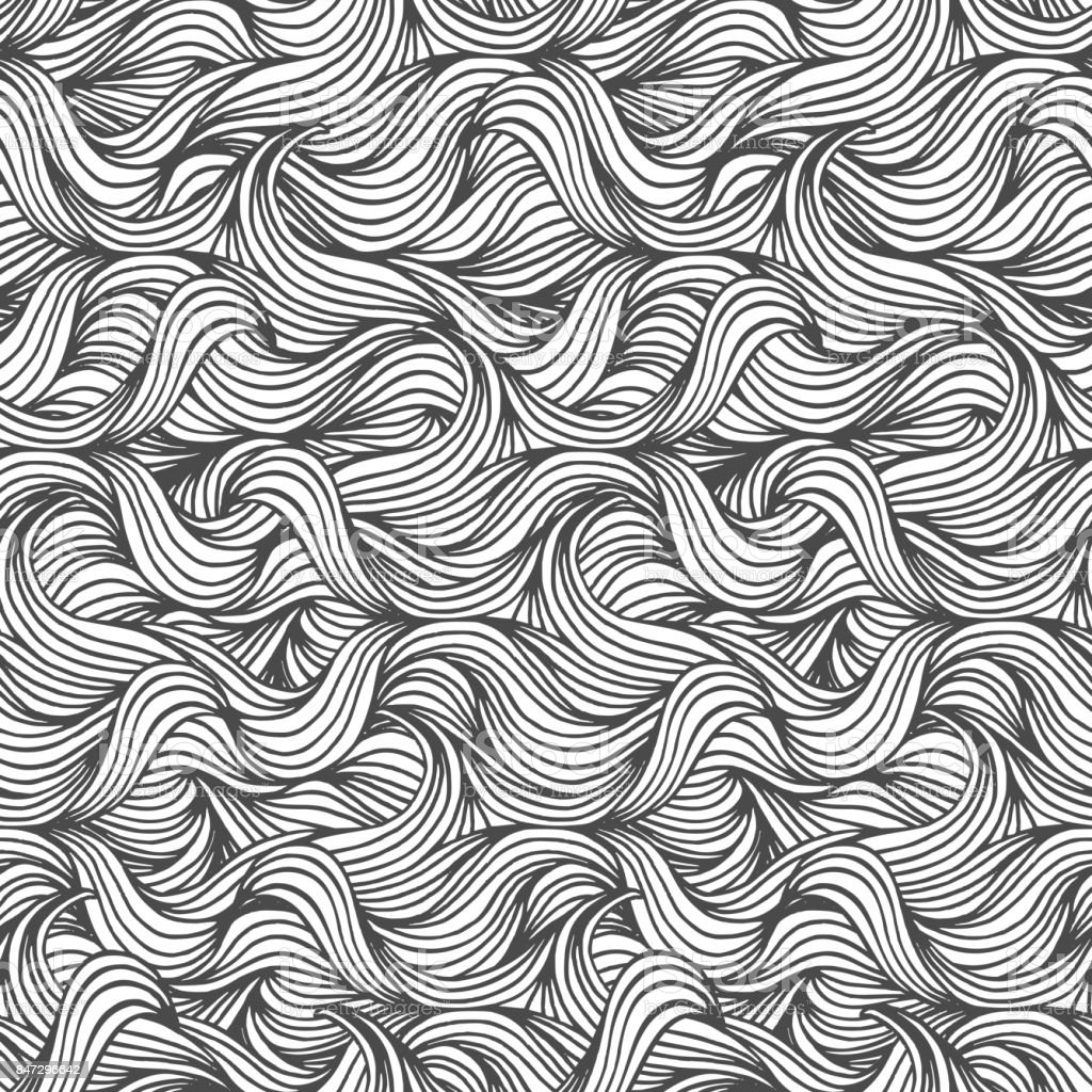 Seamless wave pattern royalty-free seamless wave pattern stock illustration - download image now