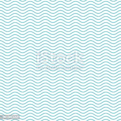 istock Seamless wave pattern. 961960058
