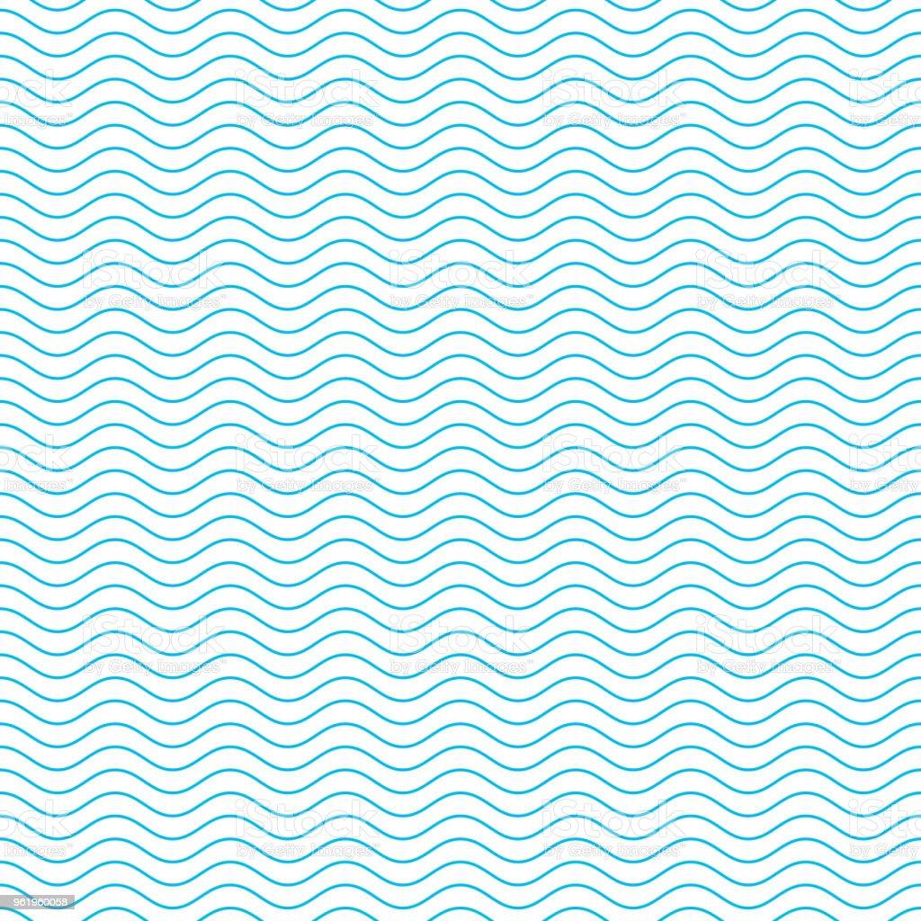 Patrón sin costuras de onda. - ilustración de arte vectorial