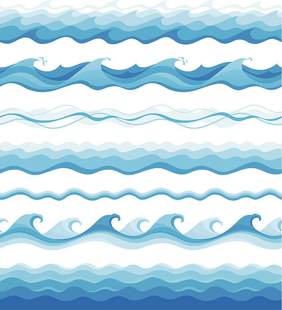 seamless waves - backgrounds clipart stock illustrations