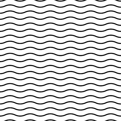 A seamless wavy line pattern design.