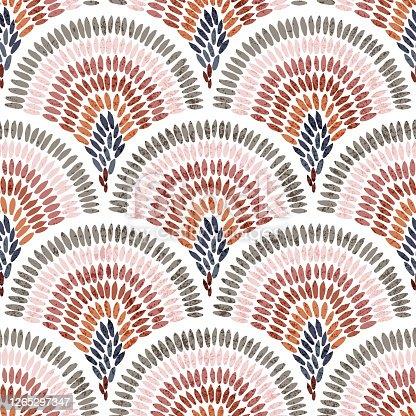 istock Seamless wavy pattern. 1265297347