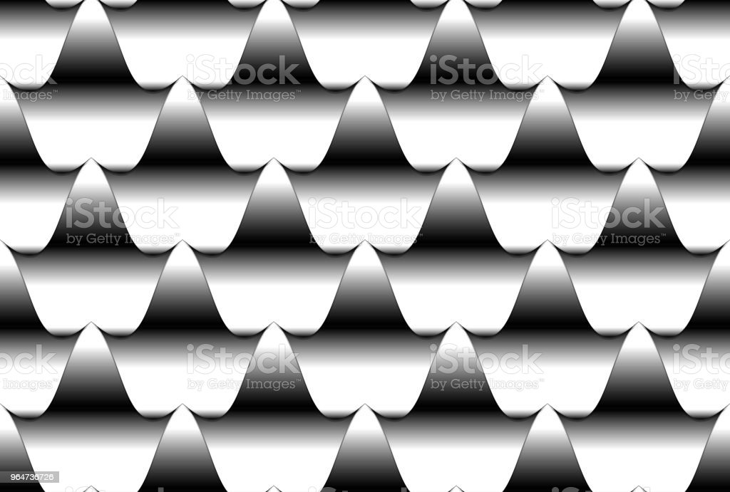 Seamless wavy tiled pattern royalty-free seamless wavy tiled pattern stock illustration - download image now