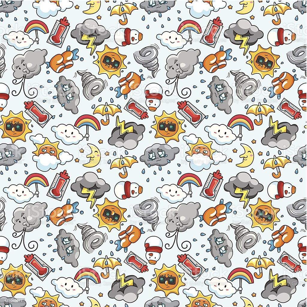 seamless weather pattern royalty-free seamless weather pattern stock vector art & more images of abstract