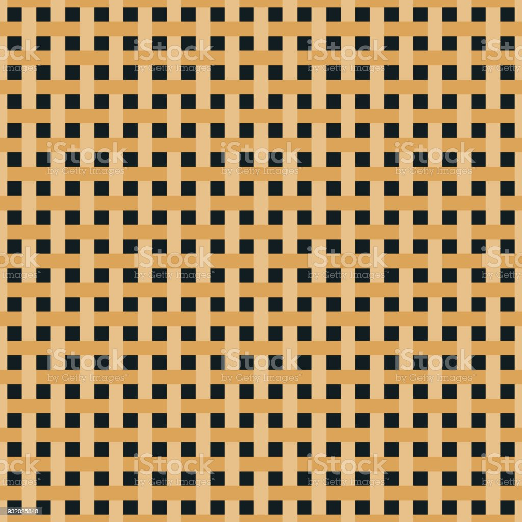 Seamless weave pattern background vector art illustration